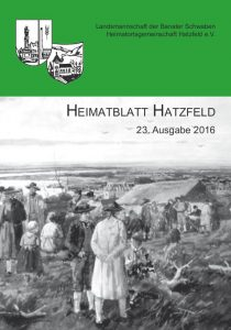 Titelblatt Heimatblatt 2016