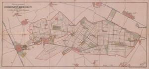 Karte der Hatzfelder Herrschaft um 1910. Die Domäne des Grafen Andreas Csekonics war die größte im Torontaler Komitat.