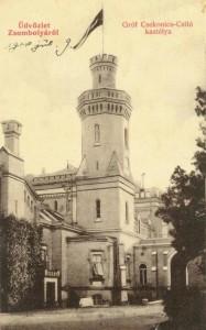 Nordostfront des Csitό- Schlosses mit Turm und Haupteingang